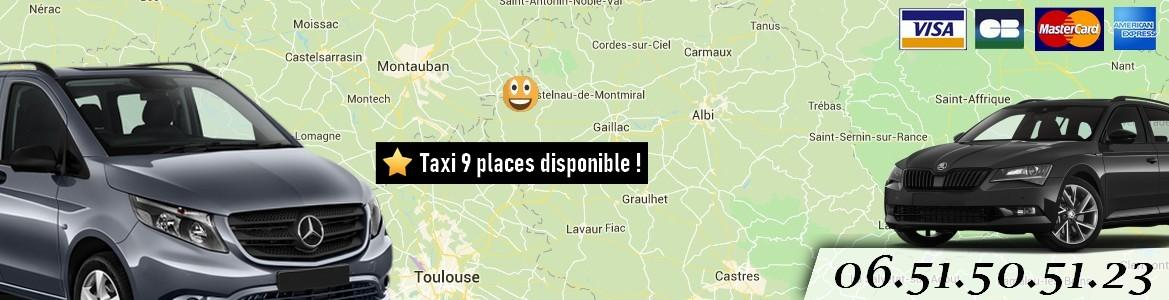 Taxi tarn toulouse albi carte bancaire